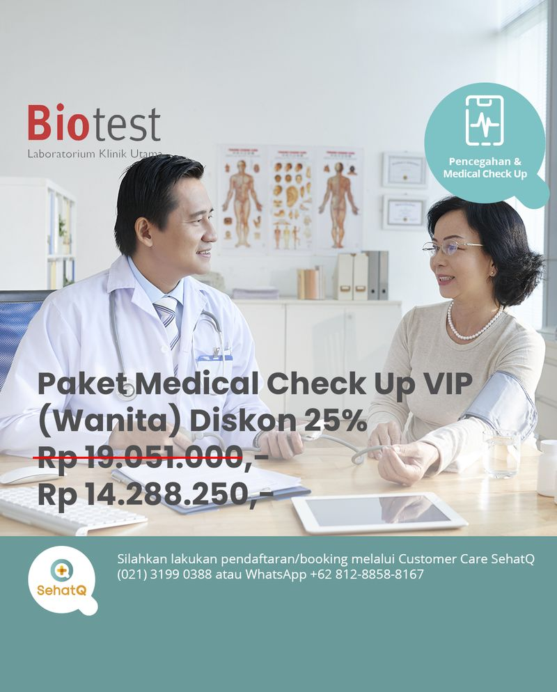 Medical Check Up (Paket VIP - Wanita) - Lab Klinik Biotest