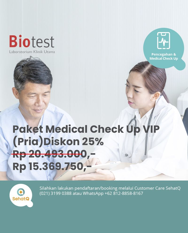 Paket Medical Check Up VIP (Pria) - Lab Klinik Biotest
