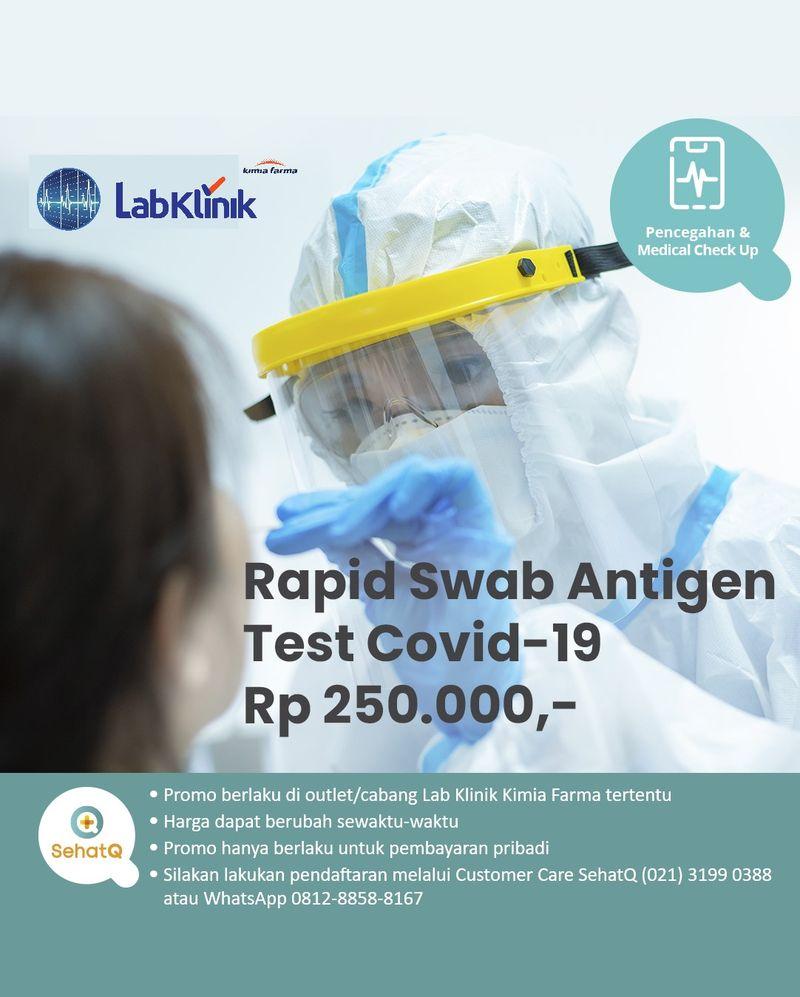 Rapid Swab Test Antigen untuk deteksi Covid-19 lebih awal