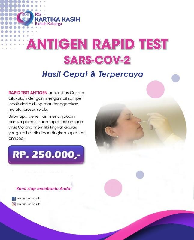 Antigen Rapid Test di  RS Kartika Kasih, Sukabumi, Jawa Barat